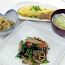 根菜と挽肉のオイスター炒め
