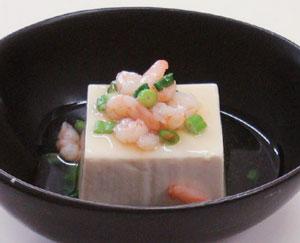 豆腐のえび餡かけ