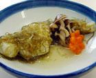 鱈の昆布〆酒蒸し